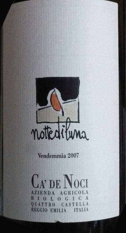 etichetta notte di luna di cadenoci - vino biologico