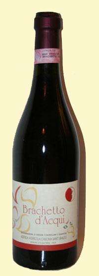 Bottiglia di Brachetto d'Acqui