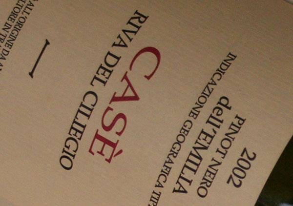 Pinot nero Riva del ciliegio 2002 Alberto Anguissola