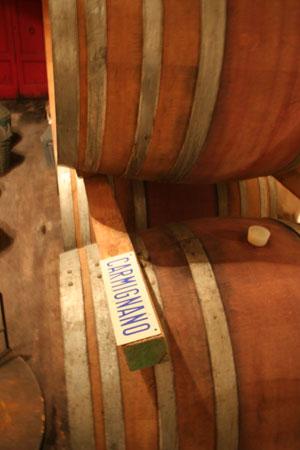 barriques di carmignano biodinamico di fattoria di bacchereto