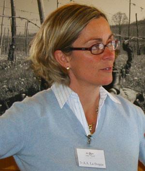 Elena Pantaleoni, titolare della cantina la Stoppa