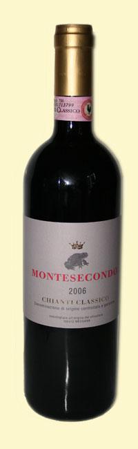 bottiglia di chianti di Montesecondo