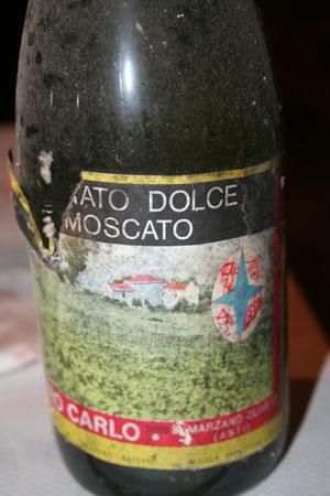 Moscato dolce di Carussin annata 1985 vino biologico