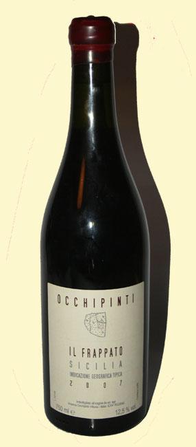 bottiglia di frappato di Arianna Occhipinti