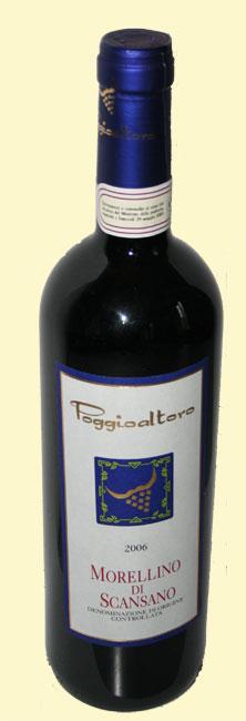 bottiglia di Morellino di Scansano di Poggio al toro 2006