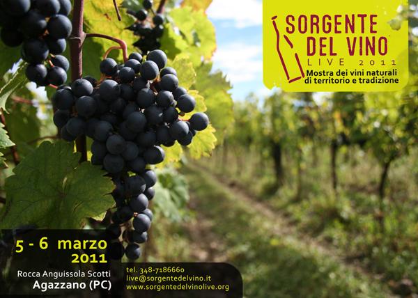 Sorgentedelvino Live 2011 - Castello di Agazzano (PC) 5/6 marzo 2011