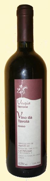 bottiglia di Terrone 2006 Comune Urupia