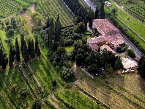 veduta aerea di Villa Bellini
