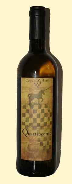 bottiglia di quattrocento della cascina Zerbetta
