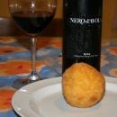 Bosco Falconeria Nero d'Avola 2009 - Il vino e l'arancino