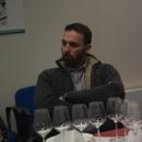 Roberto Maestri di Quarticello alla Merenda con vino insieme a Jonathan Nossiter