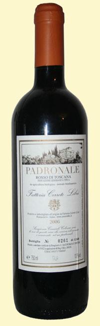 cerreto-libri-padronale-2006 vino biodinamico toscana
