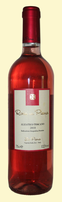 la-piana di capraia vino rosato aleatico toscano