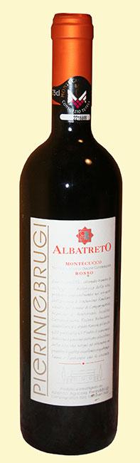 bottiglia di Albatreto, Montecucco rosso 2007 di Pierini e Brugi