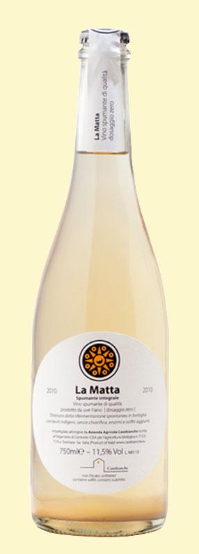 La Matta di CaseBianche, spumante naturale da uve fiano in purezza