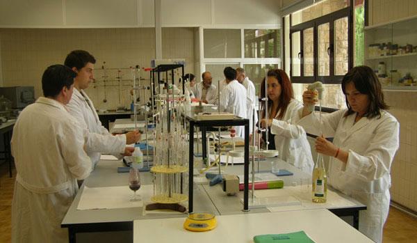 Un laboratorio di enologia