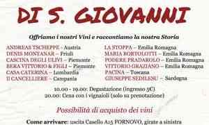 Il 23 giugno arrivano I Vignaioli di San Giovanni