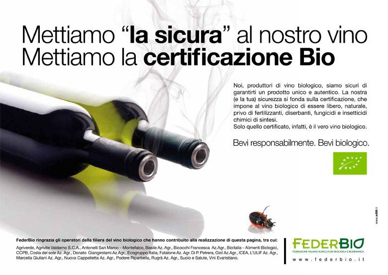 campagna pubblicitaria vino biologico