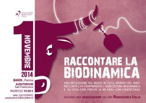 Locandina Bardi Raccontare la biodinamica 2014