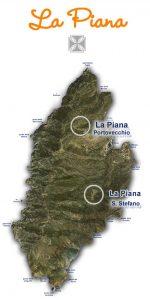 Mappa dei vigneti isola di Capraia