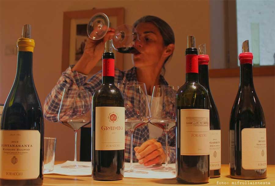 Elisabetta Foradori con i suoi vini